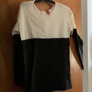 Off white and black sweater
